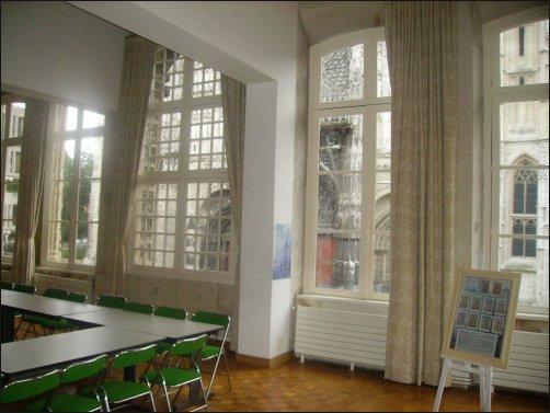 Lugar desde el que Monet pintó en las series sobre la Catedral