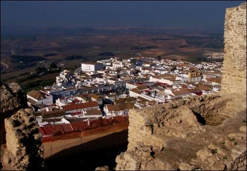 """Medina Sidonia vista desde el """"Cerro del Castillo""""."""