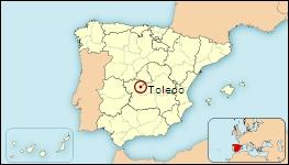 Mapa de situación de Toledo