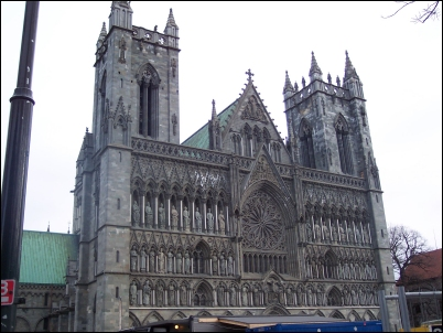 La impresionante Catedral de Trondheim.