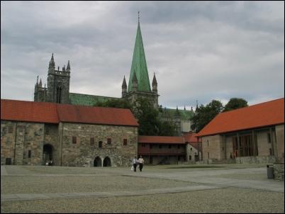 El Palacio del Arzobispo de Trondheim.