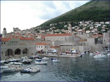 Vista del puerto de Dubrovnik