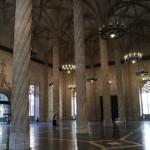 Interior de la Lonja de la Seda. Valencia