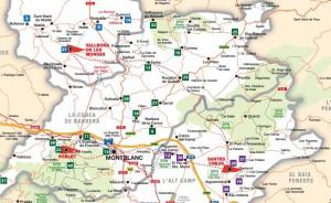 Mapa de la Ruta del Císter