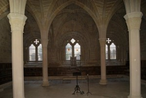 El Monasterio de Poblet - La sala capitular