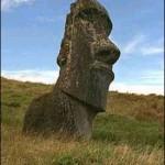 Imagen de un moai