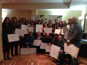La D.O. Rías Baixas entrega los diplomas de la V Edición de la Cata de las Añadas