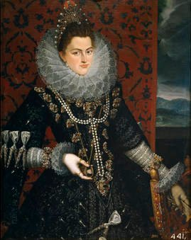 Juan Pantoja de la Cruz. La infanta Isabel Clara Eugenia