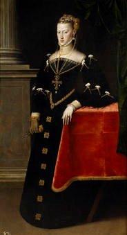 Antonio Moro. La emperatriz María de Austria, esposa de Maximiliano II. Sala 56 del Museo del Prado