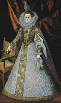 Juan Pantoja de la Cruz. Margarita de Austria. Sala 56 del Museo del Prado
