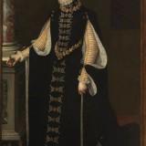 Sofonisba Anguissola. Isabel de Valois sosteniendo un retrato de Felipe II