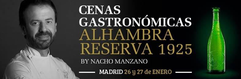Nacho Manzano llega a Madrid de la mano de Cervezas Alhambra y sus cenas gastronómicas