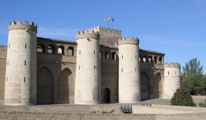 Fachada de la Aljafería de Zaragoza