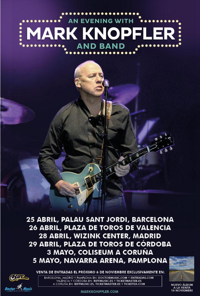 Mark Knopfler anuncia gira en España para 2019