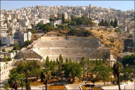Panorámica de la bella ciudad de Amán, capital de Jordania.