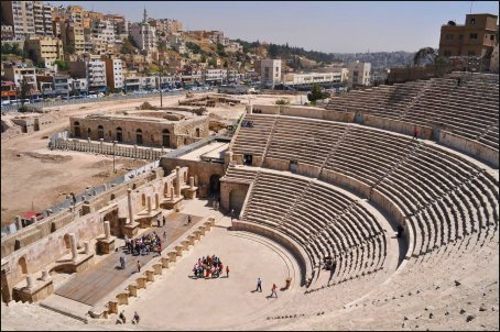 El espectacular Teatro Romano de Ammán, que data del siglo II.