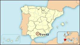 Mapa de situación de Baena
