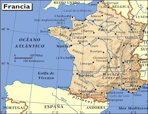 Mapa de situación de Carcassonne