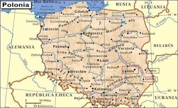 Mapa de situación de Lublin