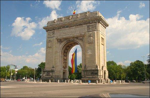 Bucarest, capital de Rumanía, cuenta con un precioso Arco del Triunfo.