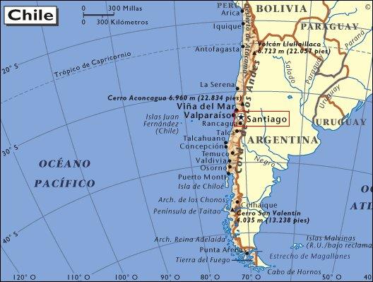 Ubicación de Santiago de Chile