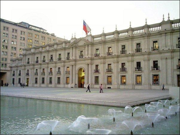 El Palacio de la Moneda de Santiago de Chile