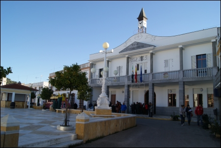 La Plaza Mayor de Alconchel