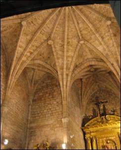 Impresionante bóveda de la Iglesia de Santo Tomás