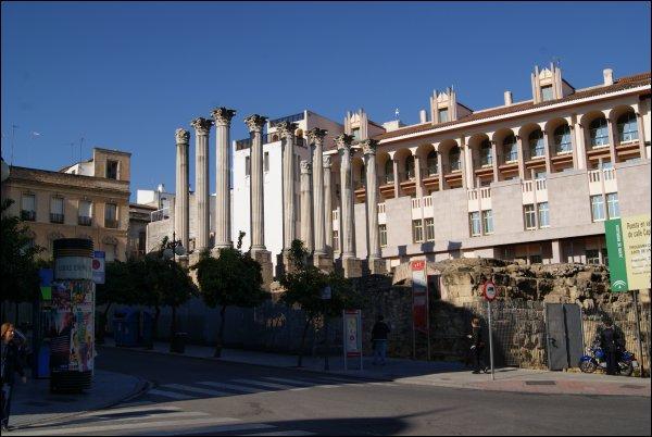 Restos del templo romano de Córdoba