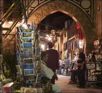 El bazar Khan el Jalili en El Cairo
