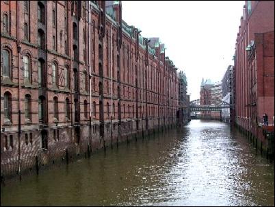 """Speicherstadt, la """"ciudad almacén"""" de Hamburgo."""