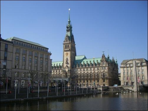 El Ayuntamiento de Hamburgo.
