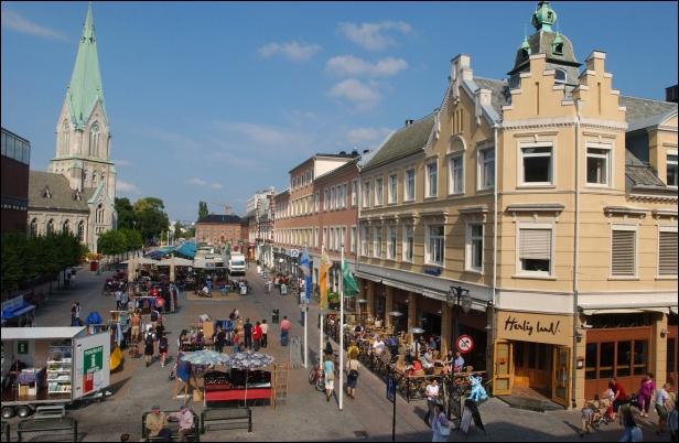 La preciosa ciudad de Mapa de situación de Kristiansand