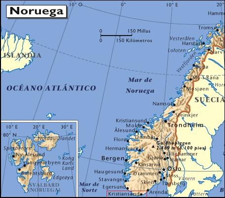 Mapa de situación de Kristiansand