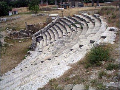 El impresionante teatro de Stobi