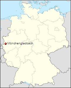 Mönchengladbach: Mapa de situación