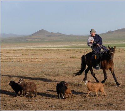 El mongol, siempre unido a su caballo