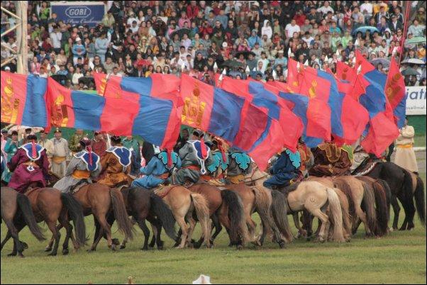 Una fiesta en Mongolia tiene como protagonista al caballo