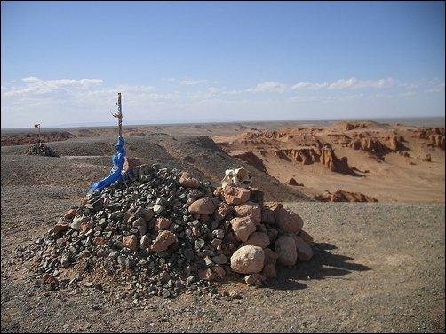 El Ovoo, lugar sagrado en Mongolia
