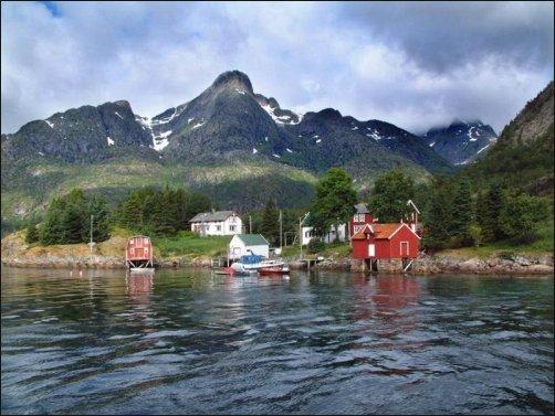 La preciosa isla de Vesterålen y sus cabañas de pescadores