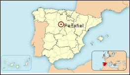 Mapa de situación de Peñafiel