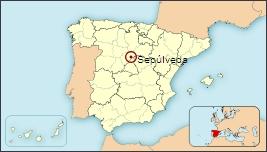 Mapa de situación de Sepúlveda