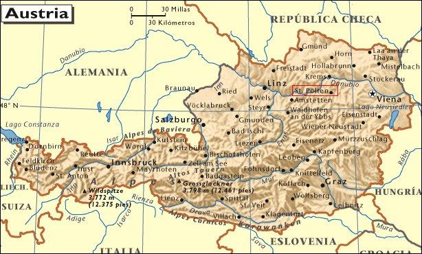 Sankt Pölten: Mapa de situación
