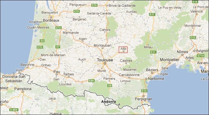 Mapa de situación del Tarn
