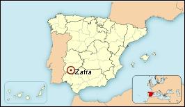 Mapa de situación de Zafra