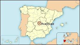Mapa de situación de Aranjuez