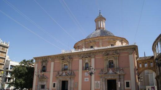 La Basílica de la Virgen de los Desamparados. Valencia
