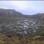 Imagen del volcán Rano Kao