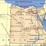 Mapa de situación de Egipto
