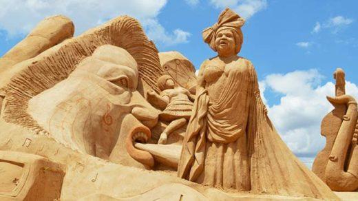 El Festival Internacional de Esculturas de Arena es un motivo más para visitar el Algarve